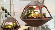 Designér José de la O na letošním milánském veletrhu nábytku představil víceúčelovou závěsnou lampu Vicky, která také slouží jako minizahrádka. Můžete si v ní např. vypěstovat jahody.