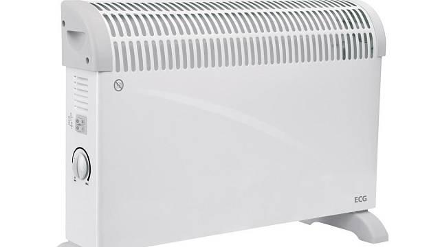 Tepelné konvektory jako ECG TK 2020 jsou jednoduché, lehké, přenositelné a levné. Tento stojí vuá Expert Elektro 699 Kč.