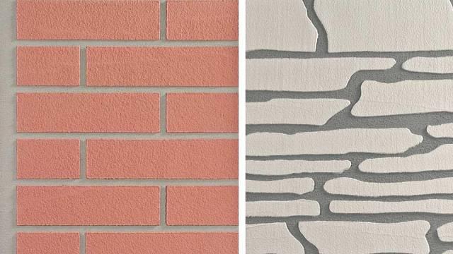 Imitace cihelných pásků a kamene