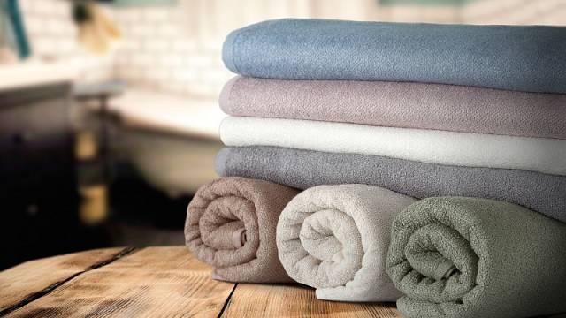 Ručníky Bali, směs bambusu, bavlny a lnu, 50 x 100 cm, gramáž 500 g/m2, cena 220 Kč/kus