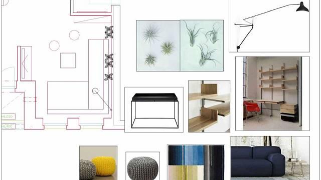 Druhá cesta uspořádání prostoru a použití barev a materiálů.