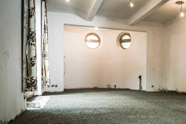 Konečná podoba podlahy z lehkého betonu