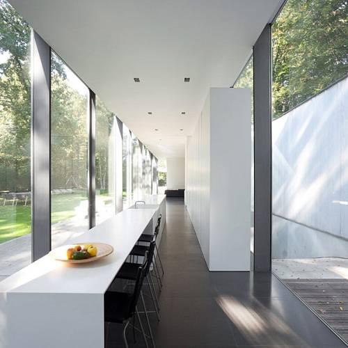 Prosklený dům v belgickém lese 11