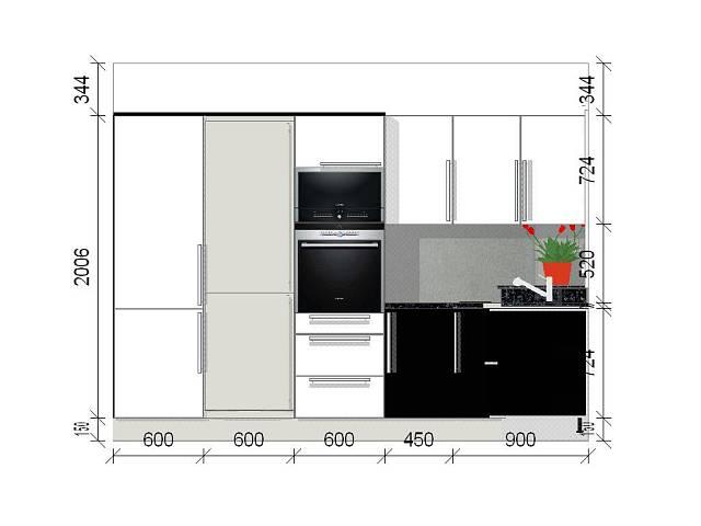 černobílá kuchyně 1