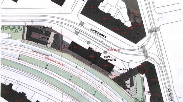 Plán proměny vyšehradského nádraží