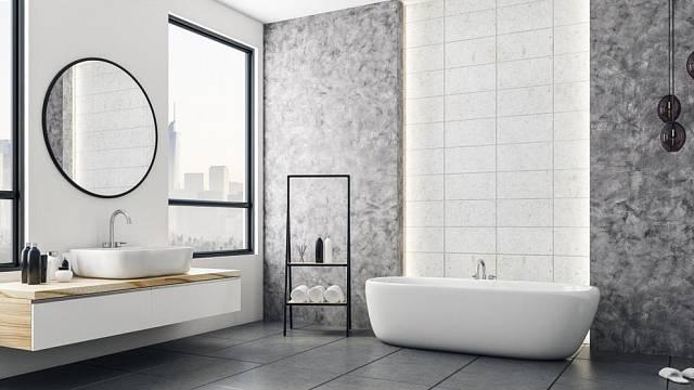 Koupelna v šedé