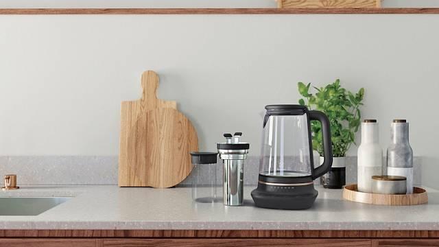 V rychlovarné konvici řady Explore 7 připravíte nejen čaj na míru – s každým stisknutím tlačítka zvýšíte nebo snížíte teplotu o 2 °C, cena 3199 Kč.