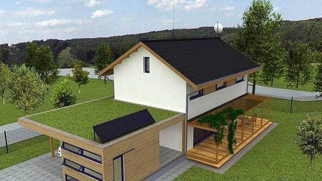 Tradiční koncept jednoduché dvoupodlažní hmoty domu je zakryt sedlovou střechou s výraznými stínícími přesahy. Stavba je vybavena řízeným větráním s rekuperací tepla, k ohřevu jsou použity elektrické přímotopné infrapanely a solární panely. Doplňkovým ...