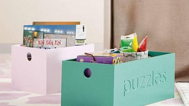 Krabice a boxy jsou geniální na rychlý úklid