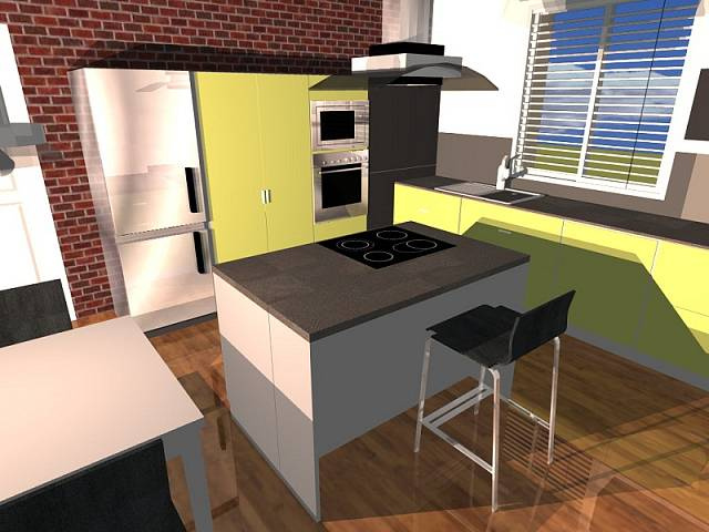 Návrh kuchyně: kontrastní žlutá 1