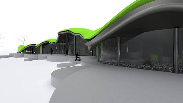 Projekt domu atypické formy i atypického řešení.