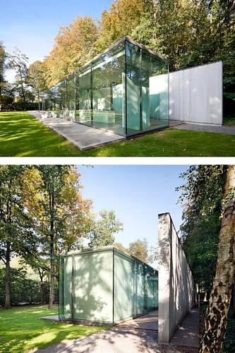 Prosklený dům v belgickém lese 13
