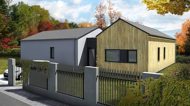 Dřevostavba Bungalov B123 od Vexta domy