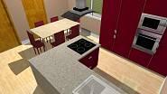 3D návrh - kuchyně 3