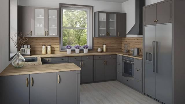 Velkorysý příklad uspořádání kuchyně do tvaru písmene G