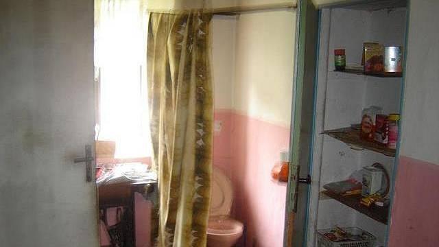 Skvělé - z toho je naprosto jané, jak to vevnitř vypadá. Záchod je za plentou! Foto: oficiální aktuální nabídky realitních kanceláří