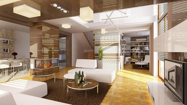 3D návrh - dům ve vysokém lesku