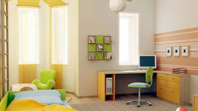 Pastelové barvy jsou pro tmavý byt ideální. Kombinace žluté a světle zelené bude působit svěže.