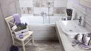 Dlažba Fineza Timber Design moonlight evokuje dřevěnou krytinu, cena 1199Kč za m2.