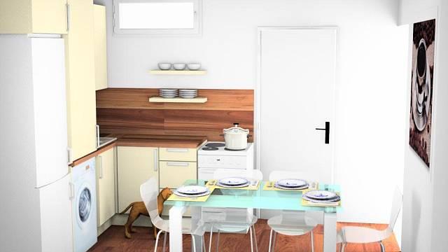 Navrhované řešení kuchyně
