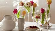 S nídaně s tulipány