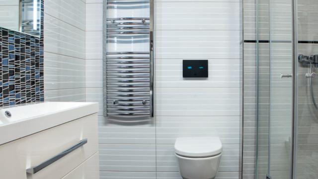 Elektronický dotykový splachovač WC od Sanely s názvem SLW 30A se montuje do rámu SLR 21 a má napájecí napětí 24 V.