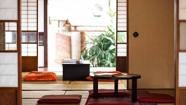 Japonský interiér se vyznačuje vzdušností a otevřeností.
