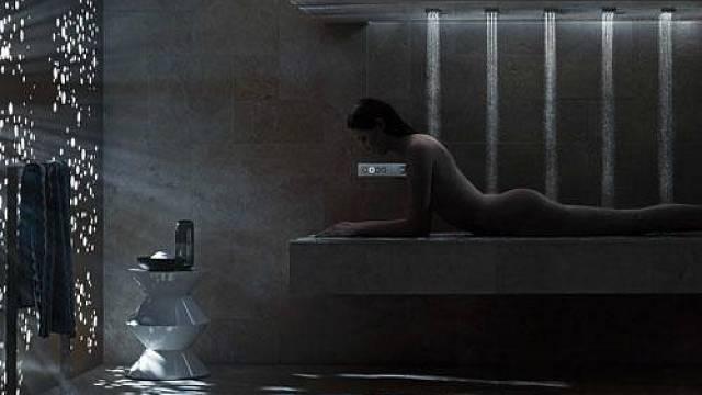 Horizontální sprcha má podle Dornbrachtu přesvědčit své uživatele, že sprchování je především relaxace, a až poté potřeba zbavovat se nečistot.