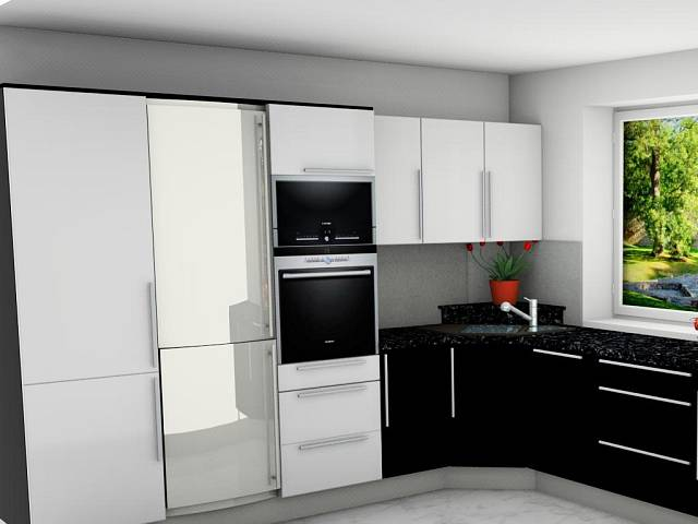 černobílá kuchyně 2