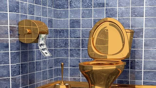 Záchod ze zlata
