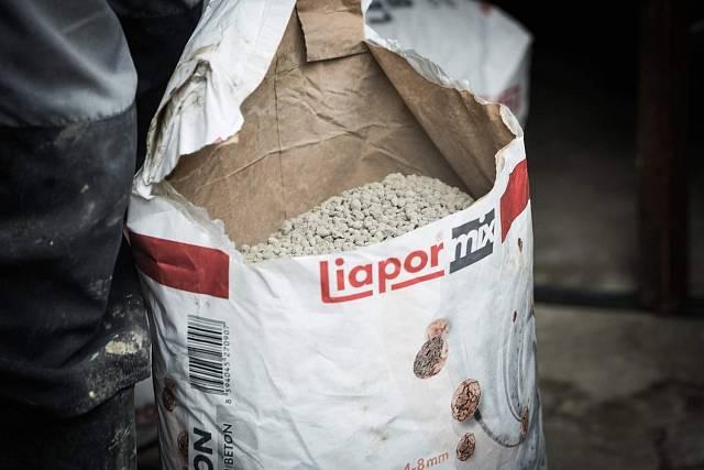 Suchá směs Liapor Mix pro snadnou přípravu lehkého betonu