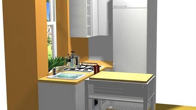 Rekonstrukce kuchyně v baťovském čtvrtdomku - varianta D