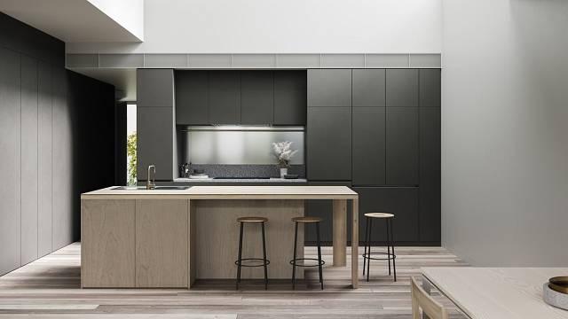 Minimalistický interiér vynikne především v kuchyni