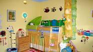 Dětský pokoj je žlutý, žlutá je z hlediska feng-šuej ideální pro rozvoj dětí.