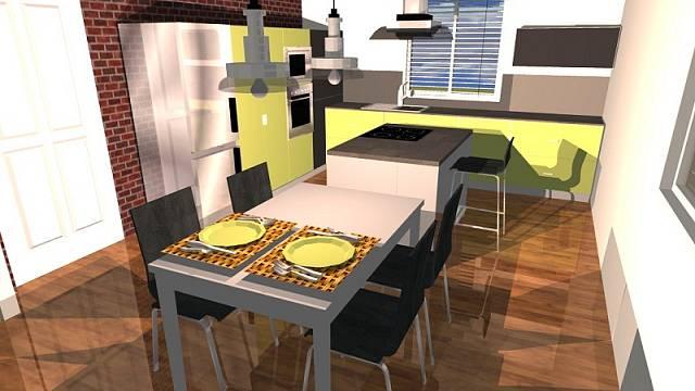 Návrh kuchyně: kontrastní žlutá 3