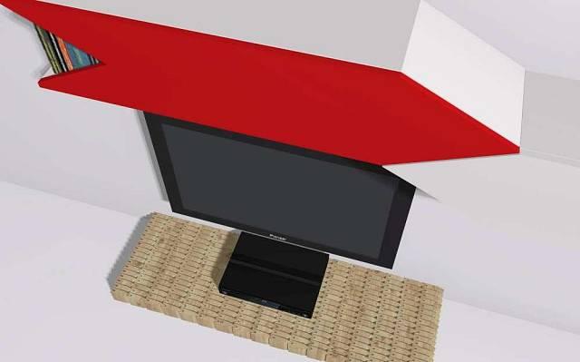 Televizní stolek z šindelí