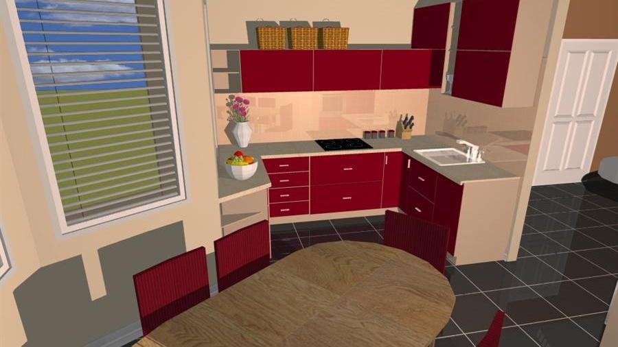 bd26f01b210f Návrh na přání  3 varianty uspořádání malé kuchyně a jídelny