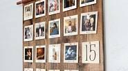 Adventní kalendář s vánočními obrázky