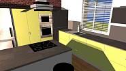 Návrh kuchyně: kontrastní žlutá 2