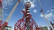 Ze stavby věže Orbit, která se stala nejvyšší sochou Londýna.