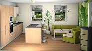 Návrh na přání: Kuchyně spojená s obývacím pokojem 1