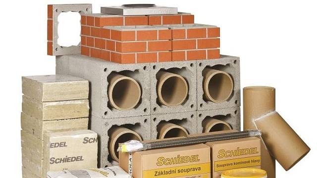U Schiedelu můžete zakoupit komínový systém v kompletní sestavě na jedné paletě.