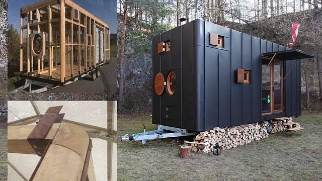 Mobilní útulna Aranka, soutěžící Martin Kožnar Architekt s.r.o.; Vítěz veřejného hlasování v kategorii Malé dřevěné konstrukce – realizace