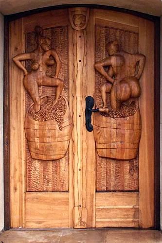 Dveře do sklípku. Foto: Petr Soudek