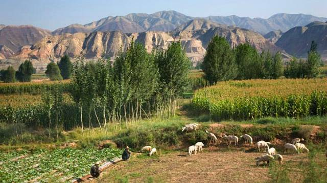 Hornatá oblast čínské provincie Gansu