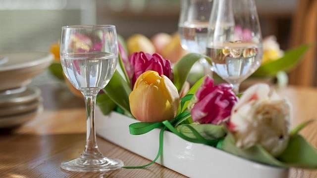 Snídaně s tulipány