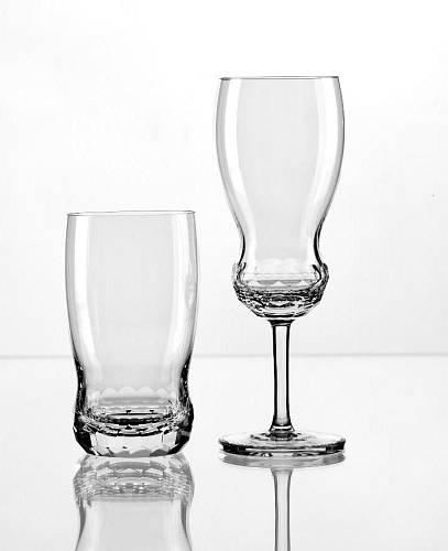 Broušené skleničky od Jiřího Pelcla