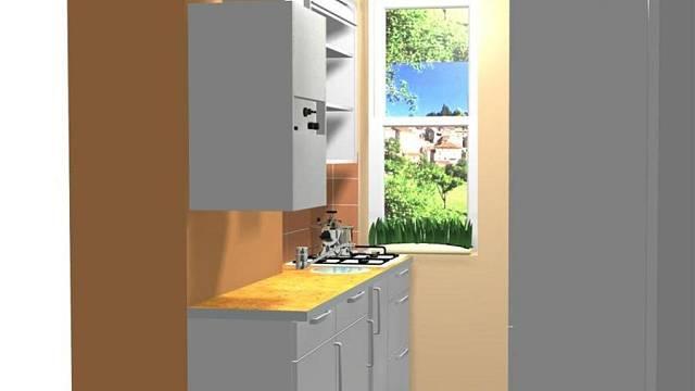 Rekonstrukce kuchyně v baťovském čtvrtdomku - varianta C