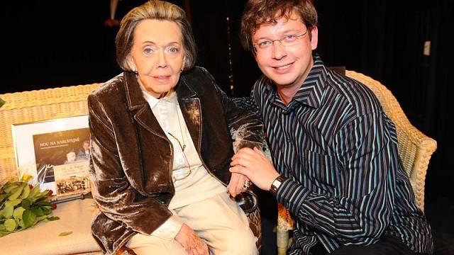 V rozhlasovém Toboganu Jiřina Jirásková pravidelně slavila, tohle jsou v roce 2011 její 80 (foto Josef Louda)