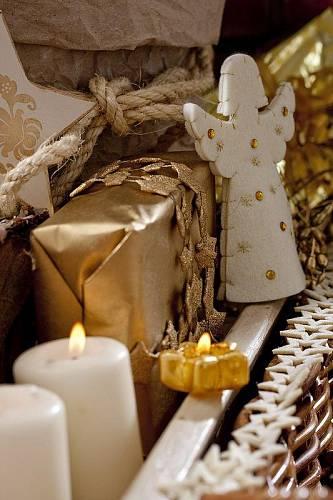Vánoční ozdoby z látky